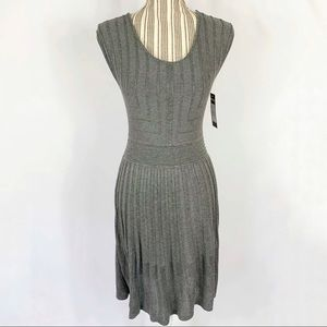 Ella Moss Heather Gray Knit Sweater Dress Sz 14